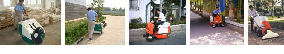 Fellow sweeper with dust box and large functions and configure the side brush dust, no dust when cleaning, simple operation, fast sweeping the ground, suitable for factories, sidewalks, warehouses, parking lots, roads.